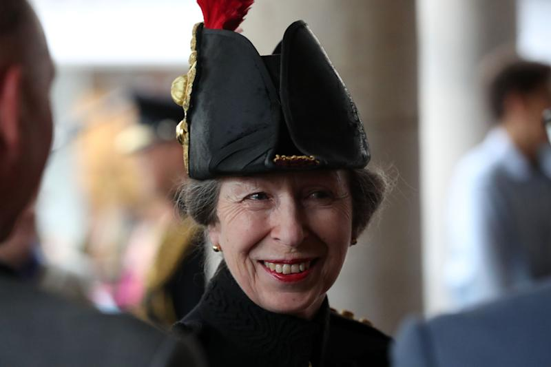 The Princess Royal attends a Freedom of Entry parade for the Household Cavalry in Windsor, Berkshire.