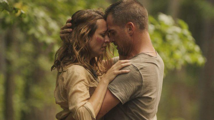 Amy Acker and George Eads in the Sept. 30 episode of 'MacGyver' (Credit: CBS)