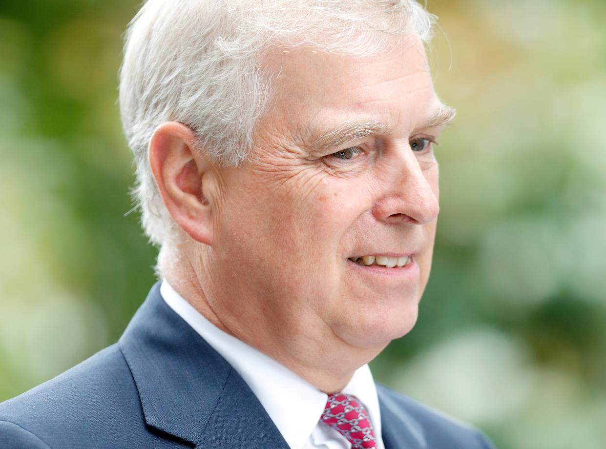 ASCOT, UNITED KINGDOM - JULY 27: (EMBARGOED FOR PUBLICATION IN UK NEWSPAPERS UNTIL 24 HOURS AFTER CREATE DATE AND TIME) Prince Andrew, Duke of York attends the QIPCO King George Weekend at Ascot Racecourse on July 27, 2019 in Ascot, England. (Photo by Max Mumby/Indigo/Getty Images)