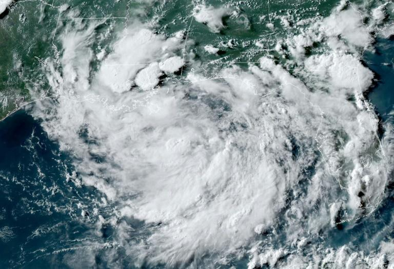 This satellite image obtained from NOAA/RAMMB, shows the storm system on July 10 formed in the Gulf of Mexico (AFP Photo/Jose ROMERO)