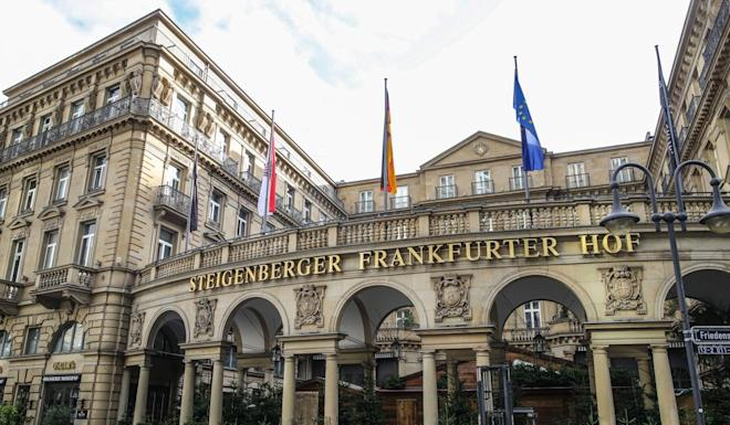 Deutsche Hospitality's Steigenberger Frankfurter Hof hotel. The company was acquired by Chinese hotel operator Huazhu Group this week for €719.9 million. Photo: EPA-EFE