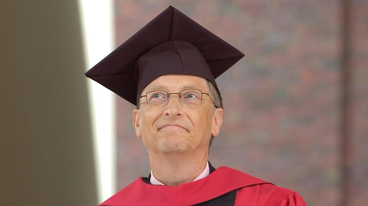 Mandatory Credit: Photo by Cj Gunther/EPA/Shutterstock (7846172e)Microsoft Founder Bill Gates and Recipient of the Honorary Degree Doctorate of Laws During Commencement Ceremonies at Harvard University in Cambridge Massachusetts Usa 0 7 June 2007Usa Bill Gates - Jun 2007.