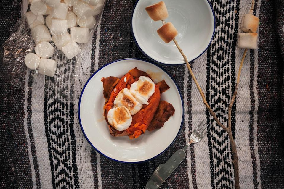 """Roast sweet potatoes in the embers of a dying fire and then top however you'd like. <a href=""""https://www.epicurious.com/recipes/food/views/ash-roasted-sweet-potatoes-56389756?mbid=synd_yahoo_rss"""" rel=""""nofollow noopener"""" target=""""_blank"""" data-ylk=""""slk:See recipe."""" class=""""link rapid-noclick-resp"""">See recipe.</a>"""