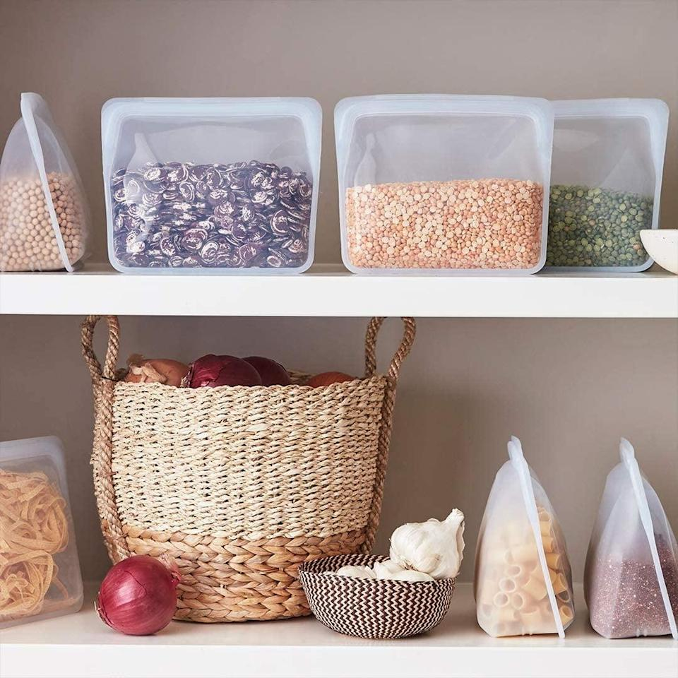 <p>Help them ditch plastic in the kitchen and get a few of these <span>Stasher 100% Silicone Reusable Food Bags</span> ($19). They come in so many sizes and shapes, and can be used so many different ways.</p>