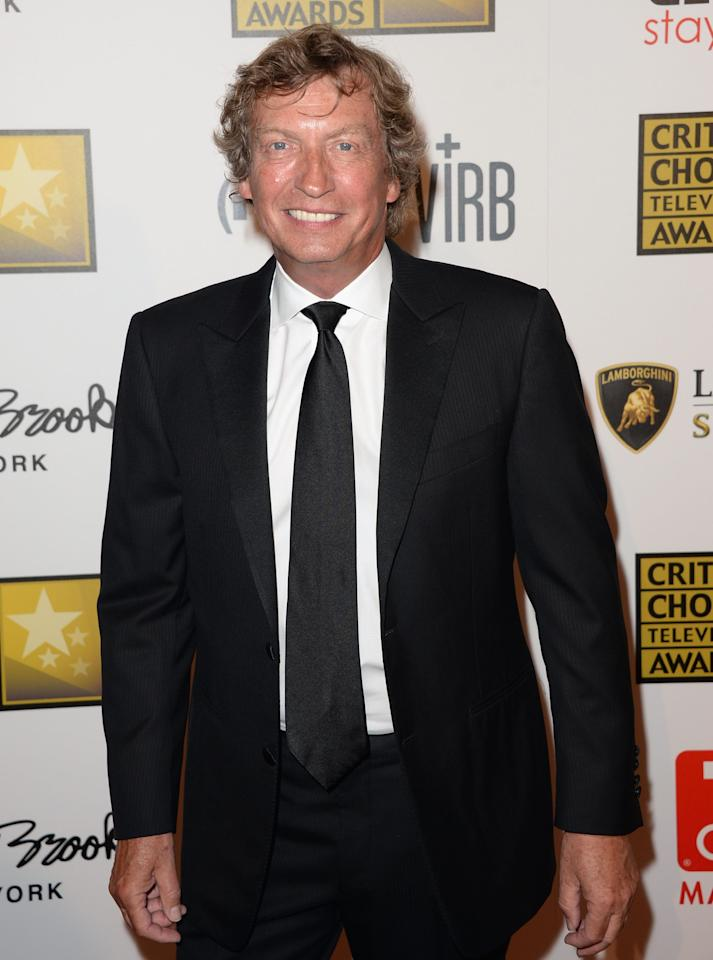 LOS ANGELES, CA - JUNE 10: TV Personality Nigel Lythgoe arrives at Broadcast Television Journalists Association's third annual Critics' Choice Television Awards at The Beverly Hilton Hotel on June 10, 2013 in Beverly Hills, California.  (Photo by Jason Merritt/Getty Images)