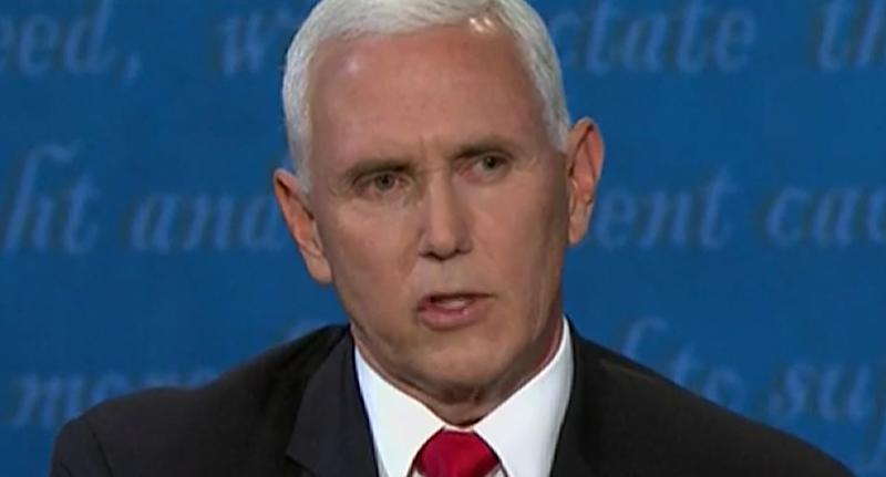 Pictured is Vice President Mike Pence during the US-Presidential debate.