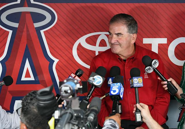 """<a class=""""link rapid-noclick-resp"""" href=""""/mlb/teams/la-angels/"""" data-ylk=""""slk:Los Angeles Angels"""">Los Angeles Angels</a> VP of Communications Tim Mead is leaving the club on Wednesday after 40 years. (Getty Images)"""