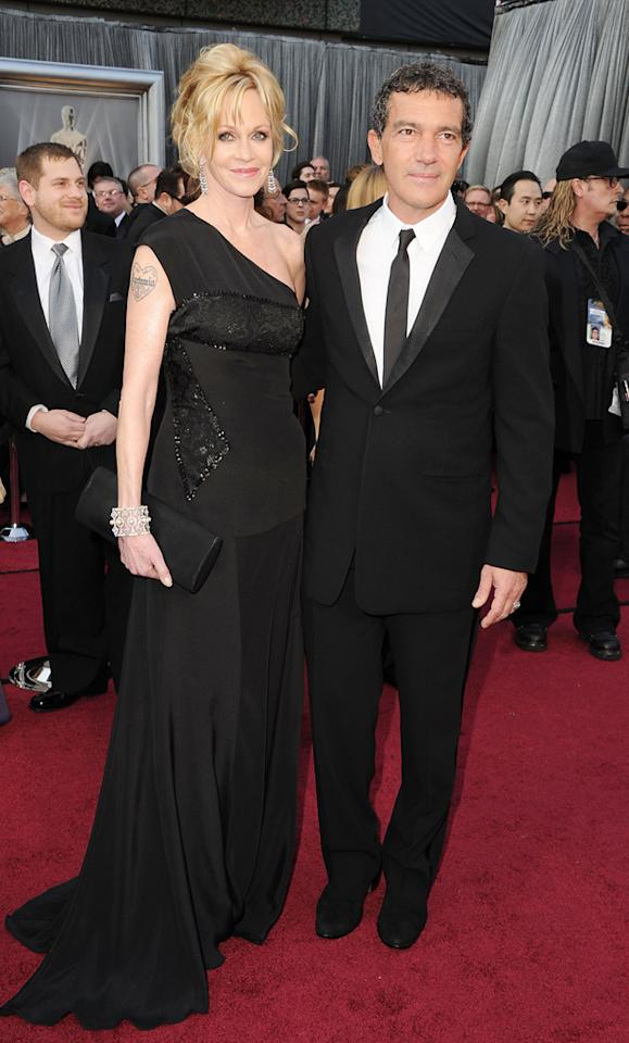 Melanie Griffith and Antonio Banderas arrive at the 84th Annual Academy Awards in Hollywood, CA.