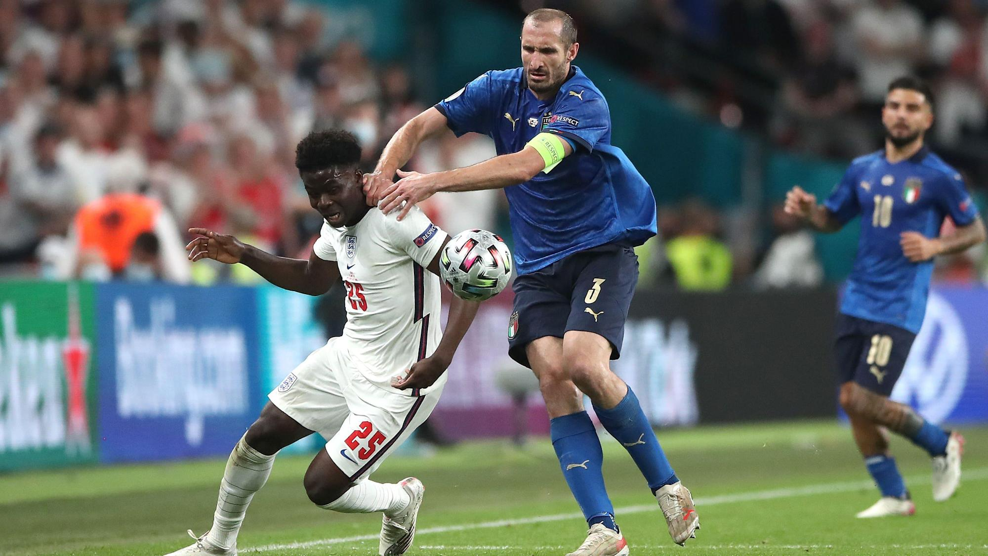 MP calls out Chiellini over Saka grab in Euro 2020 final
