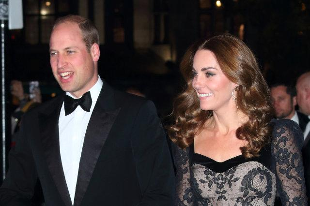 Duke and Duchess of Cambridge attend the Royal Variety...