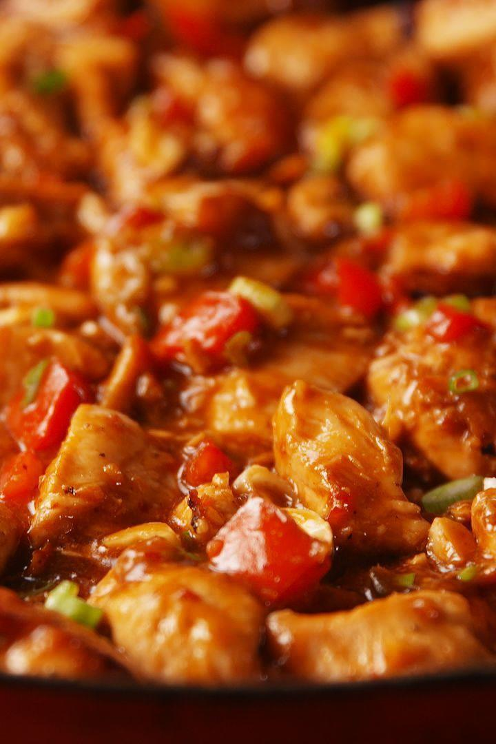 """<p>Just like a takeaway — but better.</p><p>Get the <a href=""""https://www.delish.com/uk/cooking/recipes/a29649832/kung-pao-chicken-recipe/"""" rel=""""nofollow noopener"""" target=""""_blank"""" data-ylk=""""slk:Kung Pao Chicken"""" class=""""link rapid-noclick-resp"""">Kung Pao Chicken</a> recipe.</p>"""