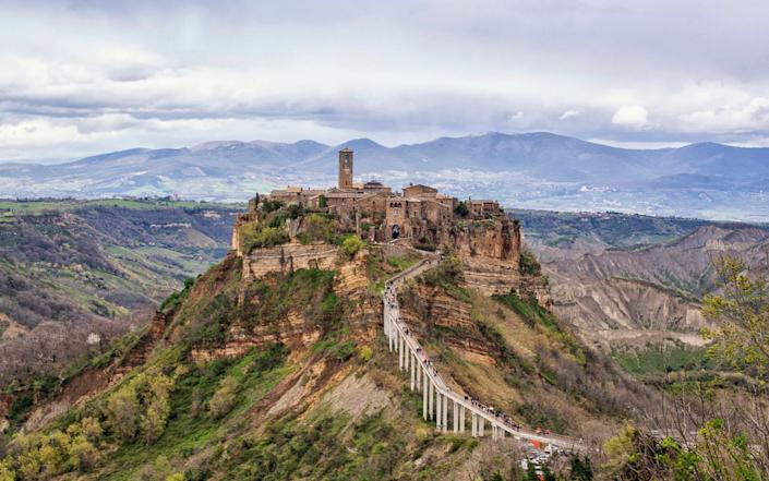 A wide view of the Civita di Bagnoregio city in the centre of Italy.  - Laura Zulian Photography