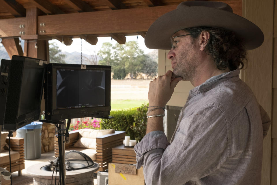 """This image released by Universal Pictures shows director Everardo Gout on the set of his film """"The Forever Purge"""". ( Jake Giles Netter/Universal Pictures via AP)"""