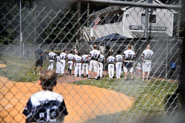 PHOTO: The Roxbury 10U Baseball team hosts teams during the Babe Ruth/Cal Ripkin District 7 tournament, July 21, 2020, in Succasunna, N.J. (Theo Wargo/Getty Images)
