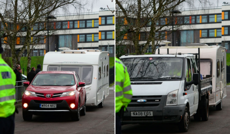 The travellers arrived at the school on Friday