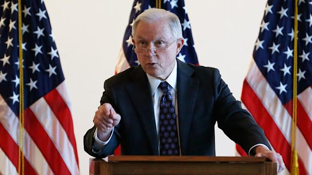 """A group of 30 academics at Georgetown University's Law Center have condemned an upcoming visit by Attorney General Jeff Sessions, lambasting his planned talk about free speech as """"hypocritical"""" and """"troubling."""""""