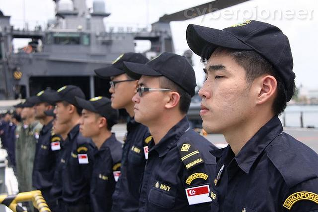 Before the No. 4 uniform, navy personel had to wear the naval combat rig. (Photo courtesy of MINDEF)