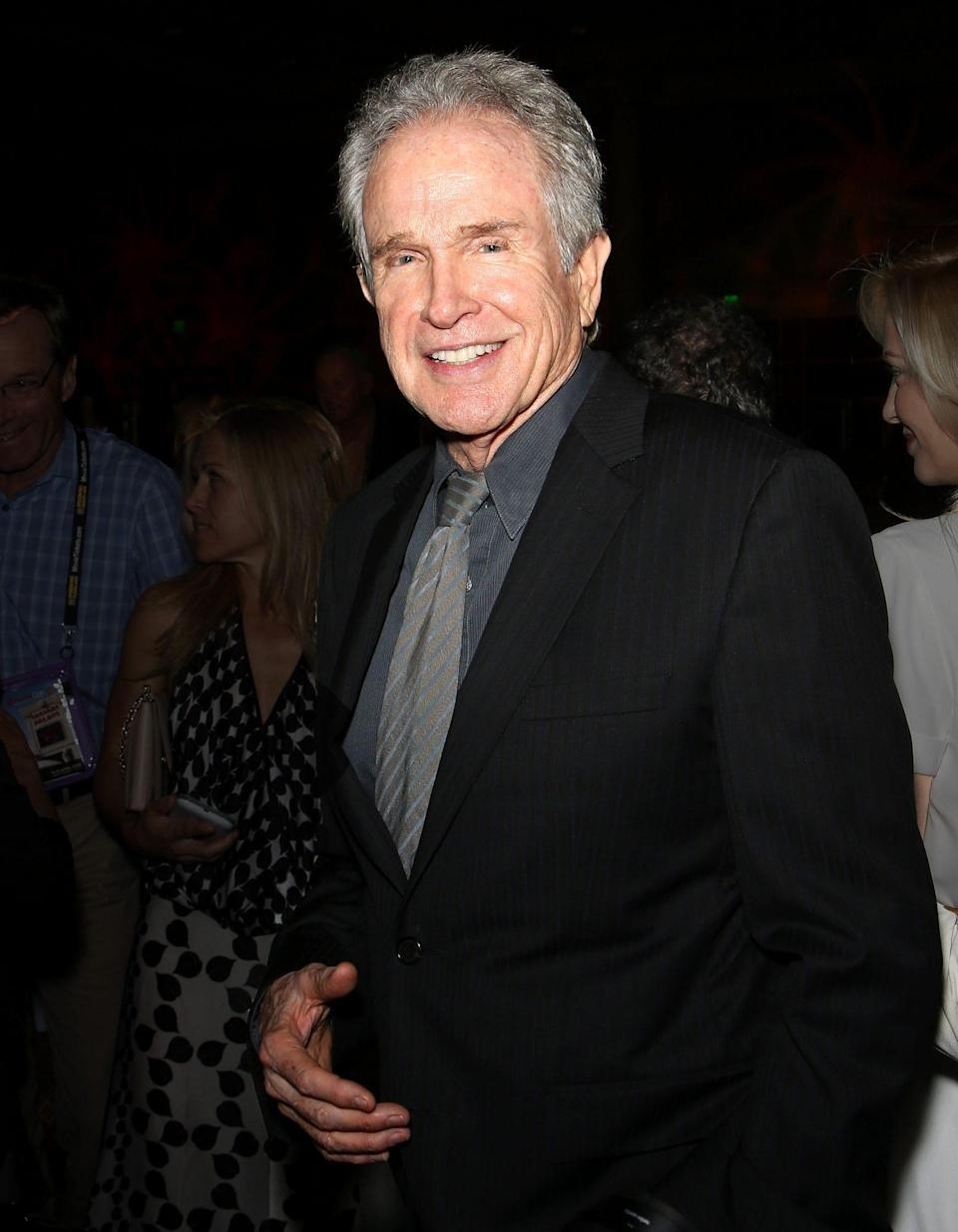 <p>The Golden Globe Awards didn't happen in 2008 due to the Writer's Guild of America strike. But one year prior, Warren Beatty won the Cecil B. DeMille Award in 2007. His first Globes win came in 1962 for most promising newcomer - male. </p>