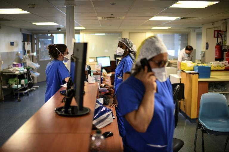 Hospitals in Paris have struggled to cope with the soaring caseload