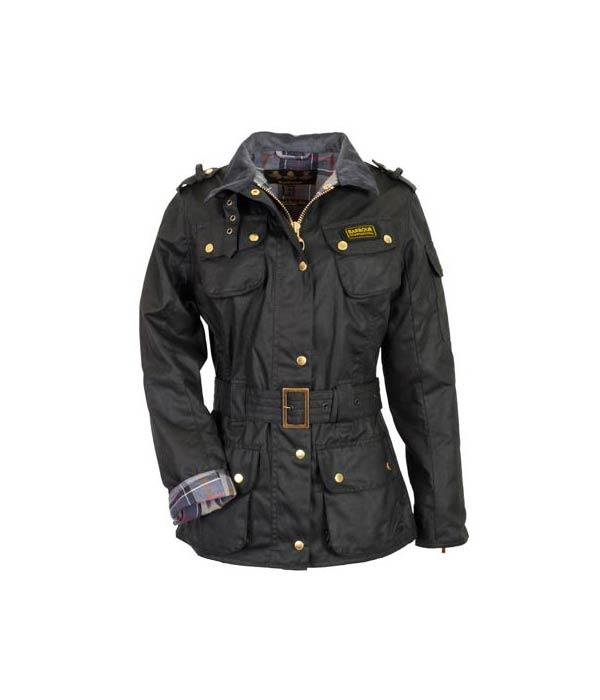 "<b>1. <a target=""_blank"" href=""http://www.barbourbymail.co.uk/Barbour-Ladies-International-Jacket.html"">Barbour International Waxed Jacket</a> £249.95</b><br><br>When it comes to combating the British outdoors in top fashion, you can't beat the wax jacket Barbour crop. Based on the iconic original, this classic black Waxed International Jacket by Barbour features a heavyweight wax perfect for the cold and wet."