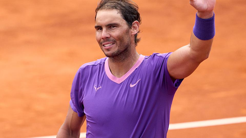 Rafael Nadal, pictured here after cruising into the Barcelona Open final.