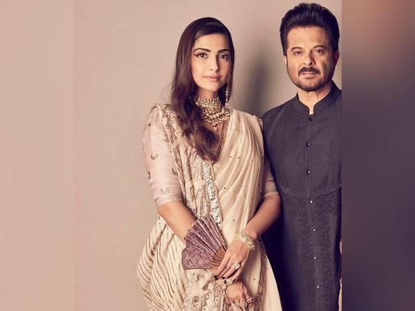 Sonam Kapoor Ahuja with her father Anil Kapoor (Image source: Instagram)