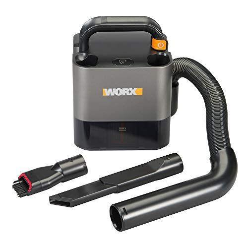 """<p><strong>WORX</strong></p><p>amazon.com</p><p><strong>$99.98</strong></p><p><a href=""""https://www.amazon.com/dp/B085T48S7K?tag=syn-yahoo-20&ascsubtag=%5Bartid%7C10055.g.1833%5Bsrc%7Cyahoo-us"""" rel=""""nofollow noopener"""" target=""""_blank"""" data-ylk=""""slk:Shop Now"""" class=""""link rapid-noclick-resp"""">Shop Now</a></p><p>Not your typical handheld vac, the WORX model has a unique compact, boxy shape, removable battery that fits into other WORX tools and a top handle. Its crevice and brush tools store right on it, and a built-in flexible hose reaches four feet. </p><p><strong>A top performer in our cleaning tests, this model easily picked up all the debris and pet hair we put down</strong>, even without using the max power setting. The hose makes it easy to reach into tight spaces, and it ran for 23 minutes at standard power on one charge. Although it's a little heavier than other handheld vacuums, you don't need to hold it up to use it.</p>"""