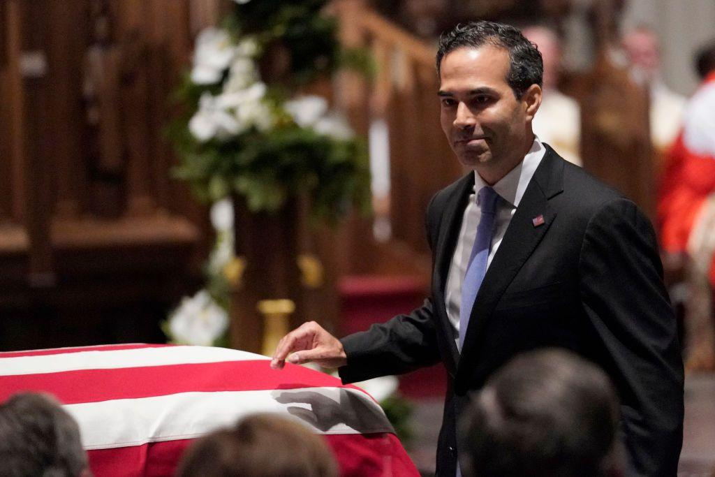 <p>George H.W. Bush's grandson George P. Bush was one of two people to eulogize the late president at the Houston funeral.</p>