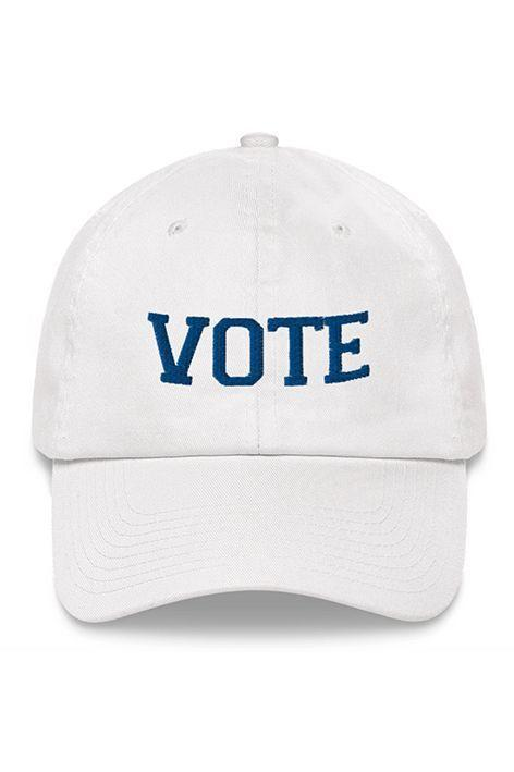 """<p>vote.org</p><p><strong>$30.00</strong></p><p><a href=""""https://shop.vote.org/products/vote-dad-hat"""" rel=""""nofollow noopener"""" target=""""_blank"""" data-ylk=""""slk:Shop Now"""" class=""""link rapid-noclick-resp"""">Shop Now</a></p><p>Slip on this baseball cap that supports Vote.org, the largest nonpartisan, nonprofit dedicated to boosting voter registration and get out the vote technology in America. </p>"""