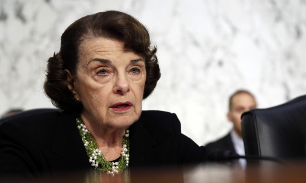 "<span class=""element-image__caption"">'I have received information from an individual concerning the nomination of Brett Kavanaugh to the supreme court,' Dianne Feinstein said in a statement.</span> <span class=""element-image__credit"">Photograph: Alex Brandon/AP</span>"