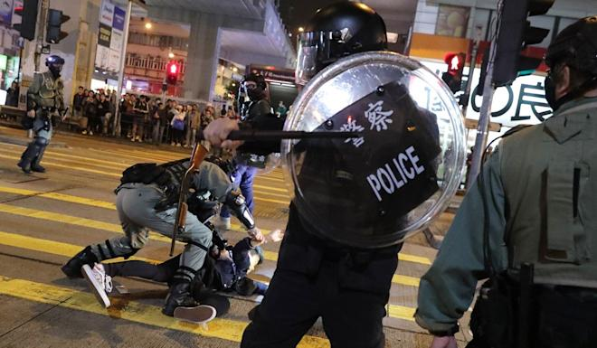 Police have deployed vast resources handling the protests, which has had implications for crime figures. Photo: Edmond So