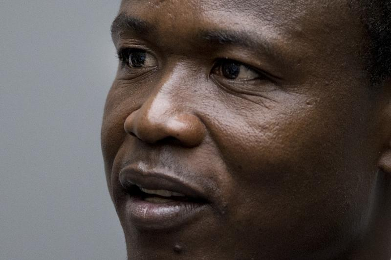 Dominic Ongwen, a former commander in the Lord's Resistance Army (LRA), pictured at the International Criminal Court in The Hague, on December 6, 2016 (AFP Photo/Peter Dejong)