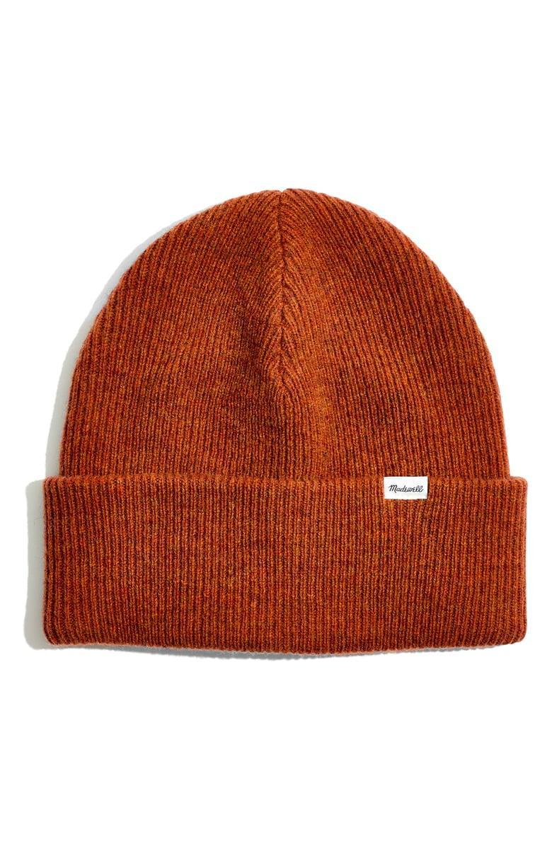 <p>The color of this <span>Madewell Cuffed Wool Beanie</span> ($35) is adorable.</p>