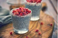 """<p><a href=""""https://www.prevention.com/food-nutrition/healthy-eating/a19596889/health-benefits-of-chia-seeds/"""" rel=""""nofollow noopener"""" target=""""_blank"""" data-ylk=""""slk:Chia seeds"""" class=""""link rapid-noclick-resp"""">Chia seeds</a> may be tiny, but they're mighty with filling fiber, omega 3 fatty acids, magnesium for healthy bones, and <a href=""""https://www.prevention.com/food-nutrition/healthy-eating/g26895324/complete-protein-foods-list/"""" rel=""""nofollow noopener"""" target=""""_blank"""" data-ylk=""""slk:complete plant-based protein"""" class=""""link rapid-noclick-resp"""">complete plant-based protein</a>. Because they absorb water so well, downing chia is also thought to help boost your satiety.</p><p><strong>Try it: </strong><a href=""""https://www.prevention.com/food-nutrition/a30170512/vanilla-chia-seed-pudding-recipe/"""" rel=""""nofollow noopener"""" target=""""_blank"""" data-ylk=""""slk:Vanilla Chia Seed Pudding"""" class=""""link rapid-noclick-resp"""">Vanilla Chia Seed Pudding</a></p>"""