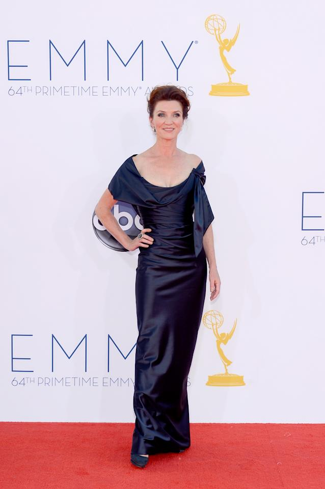 LOS ANGELES, CA - SEPTEMBER 23: Actress Michelle Fairley arrives at the 64th Annual Primetime Emmy Awards at Nokia Theatre L.A. Live on September 23, 2012 in Los Angeles, California.  (Photo by Kevork Djansezian/Getty Images)