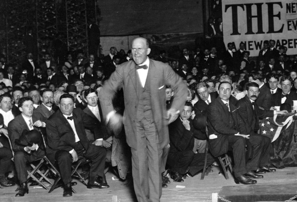Eugene Debs  of the Socialist Party of the USA made five bids for the US presidency  (Getty Images)