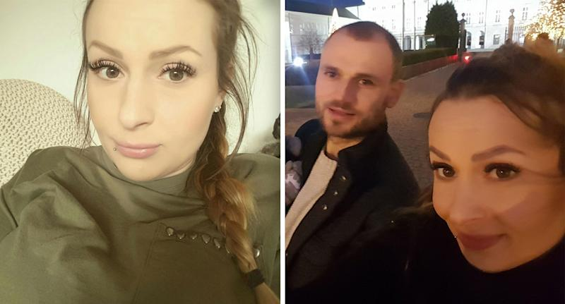 Edyta Mordel, 33, pictured with partner Lukasz Cieciura, claims she would have had an abortion if she knew her son had Down's Syndrome. Source: Edyta Mordel / Facebook
