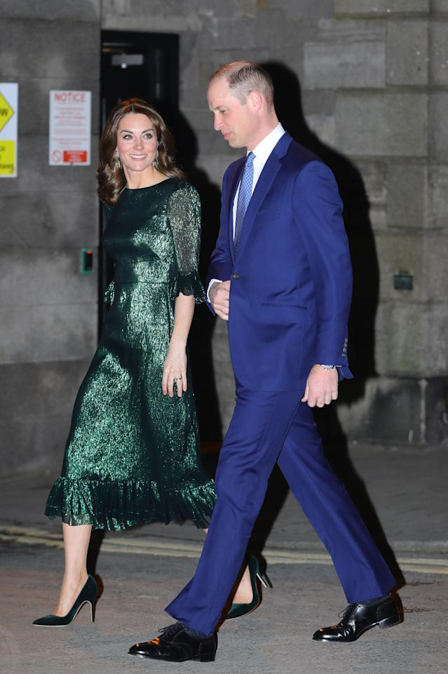 The Duchess is in a dress by The Vampire's Wife. (Press Association)