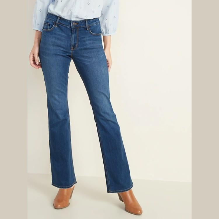 Mid-Rise Micro-Flare Jeans for Women. (Photo: Old Navy)