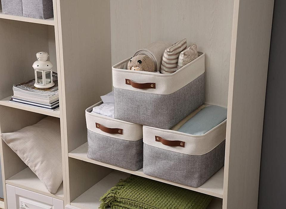 <p>You can use this <span>Decomomo Large Foldable Storage Bin</span> ($28) so many ways.</p>