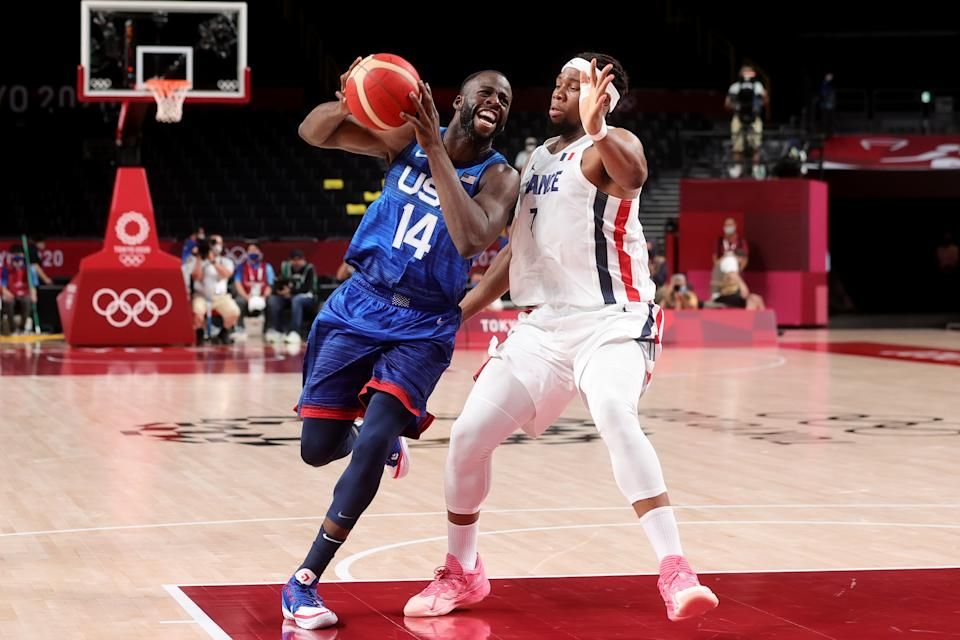 Draymond Green and Team USA men's basketball are off to a rough start in Tokyo. (Photo by Pete Dovgan/Speed Media/Icon Sportswire via Getty Images)