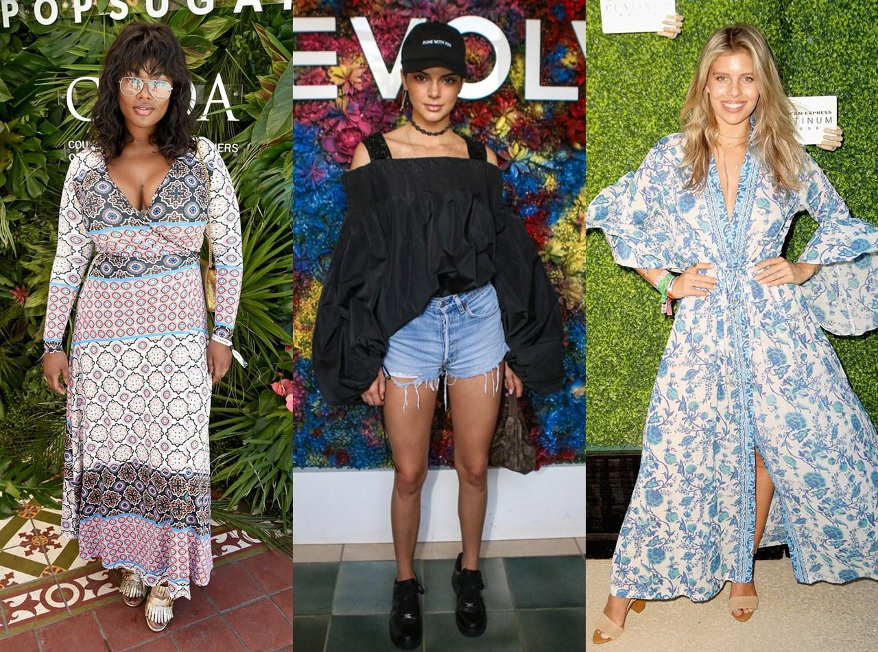 "<p>Spring in Indio, California, signals the arrival of music lovers of all kinds for <a rel=""nofollow"" href=""http://www.self.com/story/lady-gaga-dyes-her-hair-blond-coachella?mbid=synd_yahoolifestyle"">Coachella</a>, and they bring with them a preview of summer fashion trends. Honestly, this music festival is 50 percent about the bands and 50 percent about the clothes people wear on the festival grounds.</p><p>The first weekend of <a rel=""nofollow"" href=""http://www.self.com/gallery/coachella-outfit-ideas-boho-style?mbid=synd_yahoolifestyle"">Coachella</a> left us with plenty of amazing ideas for future outfits. This season, we'll be stocking up on sheer tops and bodysuits (sometimes less actually <em>is</em> more), bold floral prints, and feminine, <a rel=""nofollow"" href=""http://www.self.com/gallery/off-the-shoulder-dresses-and-tops?mbid=synd_yahoolifestyle"">off-the-shoulder</a> styles. Many attendees left their flower crowns at home—except for that one Snapchat filter, of course—and moved to embrace more comfortable looks.</p><p>Ahead, we've rounded up 26 on-trend celebrity outfits spotted during the first weekend of Coachella. You can easily copy these looks even if you're not braving desert temperatures or jamming out to the music of some of your favorite artists up close and personal.</p><p><b>Related:</b> <a rel=""nofollow"" href=""http://www.self.com/story/lady-gaga-dyes-her-hair-blond-coachella?mbid=synd_yahoolifestyle"">Lady Gaga Dyes Her Hair Back to Blonde for Coachella</a></p>"