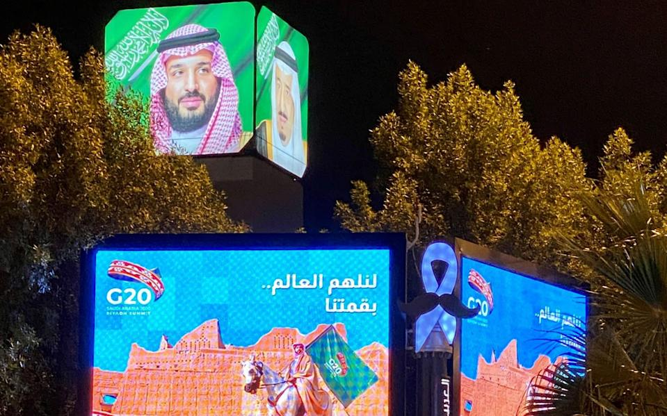 Billboards advertise the G20 Summit in Riyadh, Saudi Arabia - Reuters