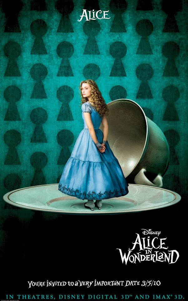 "<a href=""http://movies.yahoo.com/movie/contributor/1810092808"">Mia Wasikowska</a> stars as Alice in Walt Disney Pictures' <a href=""http://movies.yahoo.com/movie/1810078365/info"">Alice in Wonderland</a> - 2010"