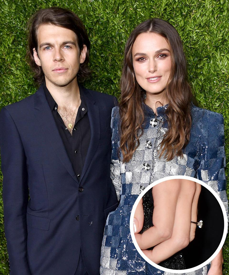 <p>The Klaxons keyboard player proposed to the actress with a brilliant-cut solitaire in the summer of 2012. They had their wedding one year later. </p>