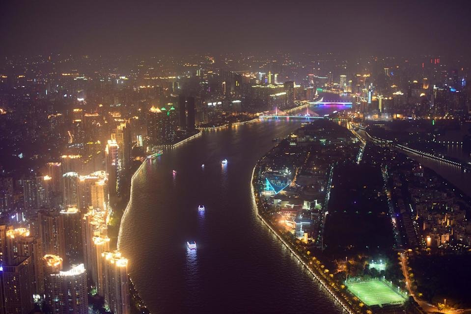 China's Pearl River Delta, which incudes Guangzhou (pictured), Shenzhen, Foshan and Dongguan, has overtaken Tokyo as the world's largest urban area both in size and population (AFP Photo/Ed Jones)