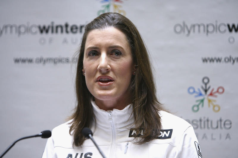 Australian TV commentator Jacqui Cooper defended remarks she made at the Winter Olympics in Pyeongchang, South Korea. (Robert Prezioso via Getty Images)