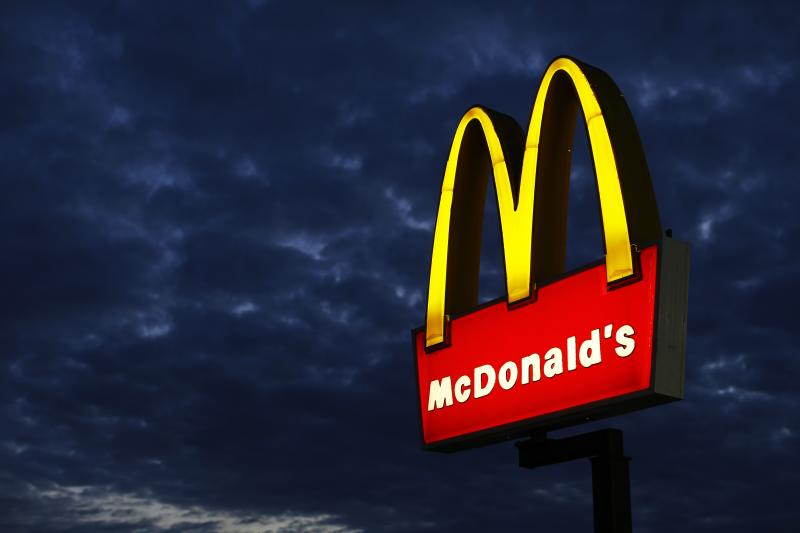 A McDonald's restaurant is pictured in Encinitas, California in this file photo