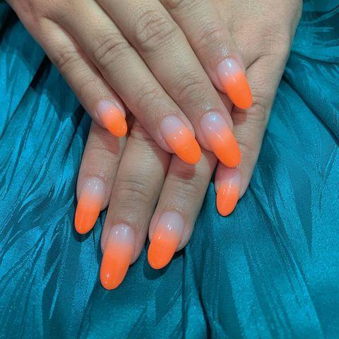 """<p>If the previous orange design was a bit too subtle for your tastes, this neon orange will most certainly float your boat.</p><p><a href=""""https://www.instagram.com/p/B0ZQD0jA7Vp/"""" rel=""""nofollow noopener"""" target=""""_blank"""" data-ylk=""""slk:See the original post on Instagram"""" class=""""link rapid-noclick-resp"""">See the original post on Instagram</a></p>"""