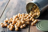 """<p>Keep your cupboard filled with canned black beans and chickpeas, as well as quick-cooking options like lentils. The fiber and protein in beans help keep your blood sugar stable, Zanini says. </p><p>Over time, that can add up to big benefits. Adults with type 2 diabetes who ate a cup of lentils or beans daily saw their A1C levels drop by half a percentage point within three months, found one <a href=""""https://jamanetwork.com/journals/jamainternalmedicine/fullarticle/1384247"""" rel=""""nofollow noopener"""" target=""""_blank"""" data-ylk=""""slk:JAMA study"""" class=""""link rapid-noclick-resp""""><em>JAMA</em> study</a>.</p>"""